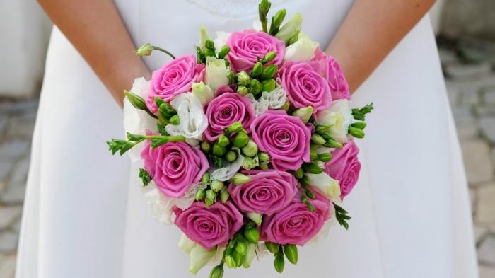 Классический букет к свадьбе