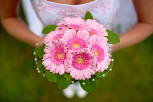 невеста с герберами